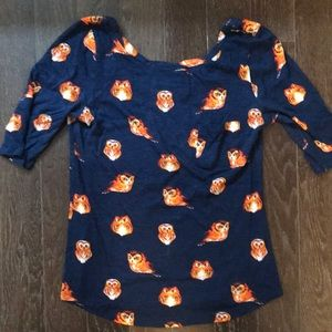 Anthropologie Postmark Owl Shirt.